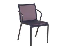 - Stackable Batyline® garden chair with armrests HYBRID 77   Batyline® chair - Les jardins