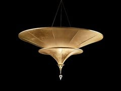 - Silk pendant lamp ICARO 2 TIERS - Fortuny® by Venetia Studium