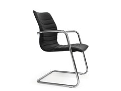 - Cantilever leather reception chair ICE | Cantilever chair - Quinti Sedute