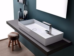 - Countertop rectangular ceramic washbasin ICON 85x37 - Alice Ceramica