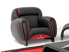- Upholstered leather armchair with armrests IMOLA LEATHER | Armchair - Tonino Lamborghini Casa by Formitalia Group