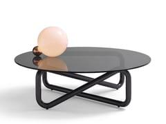 Tavolino basso in acciaio e vetro da salottoINFINITY - ARFLEX