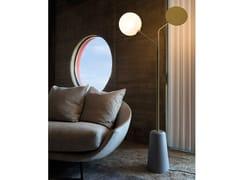 Lampada da terra a luce diretta e indiretta in ottone in stile modernoINTI 1460.2L - CANGINI & TUCCI
