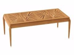 - Extending rectangular teak garden table IRIS | Rectangular table - ASTELLO