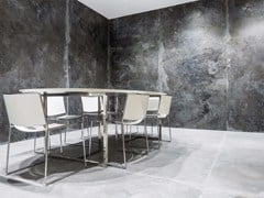 - Porcelain stoneware wall/floor tiles with metal effect IRON BLACK | Wall tiles - FMG Fabbrica Marmi e Graniti