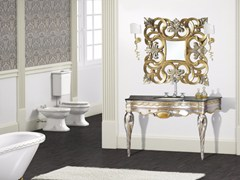 - Lacquered console sink with mirror ISCHIA CM31DC - LA BUSSOLA
