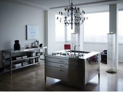 Modulo cucina freestanding in acciaio inoxISOLA CUCINA 130 (1) - ALPES-INOX