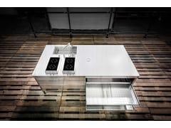 Modulo cucina freestanding in acciaio inoxISOLA CUCINA 250 - ALPES-INOX
