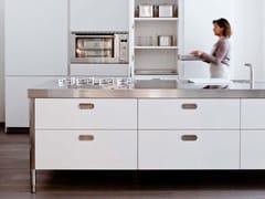 Modulo cucina freestanding in acciaio inoxISOLA CUCINA 280 - ALPES-INOX