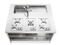 Modulo cucina freestanding in acciaio inoxISOLE CUCINA 160 - ALPES-INOX