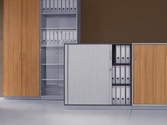 - Office storage unit with tambour doors J_SYSTEM | Office storage unit with tambour doors - BALMA