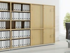 - Office storage unit with sliding doors with lock J_SYSTEM | Office storage unit with sliding doors - BALMA