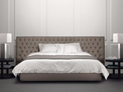 - Double bed with tufted headboard JACOPO LARGE - Casamilano