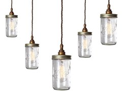 - Handmade glass pendant lamp JAM JAR CLUSTER PENDANT LIGHT - Mullan Lighting