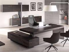 - L-shaped executive desk with shelves JERA | Office desk with shelves - Las Mobili