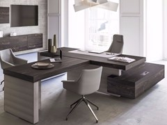 - Sectional office desk with shelves JERA | Sectional office desk - Las Mobili
