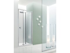 - Niche glass shower cabin with folding door JOLLY - 5 - INDA®