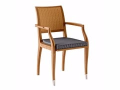 - Teak garden chair with armrests JONQUILLE | Chair with armrests - ASTELLO
