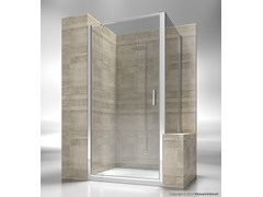 - Custom tempered glass shower wall panel JUNIOR GA+GP - VISMARAVETRO
