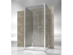 - Custom tempered glass shower cabin JUNIOR GF+GN+GF - VISMARAVETRO