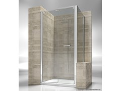 - Custom tempered glass shower wall panel JUNIOR GN+GP - VISMARAVETRO