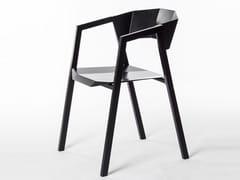 Sedia in alluminio con braccioliK - BUZAO