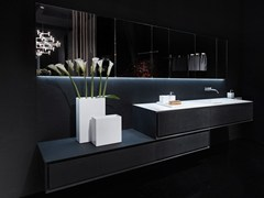 - Single lava stone vanity unit K.ONE | Lava stone vanity unit - RIFRA