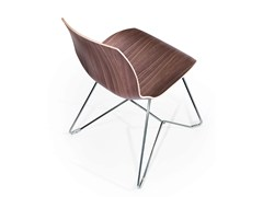 - Sled base wooden chair KALEIDOS | Wooden chair - Caimi Brevetti