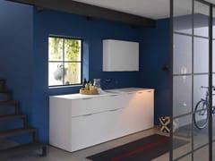 Mobile lavanderia in nobilitato con lavatoio per lavatriceKANDY 03 - IDEAGROUP