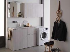 Mobile lavanderia in nobilitato con lavatoioKANDY 05 - IDEAGROUP