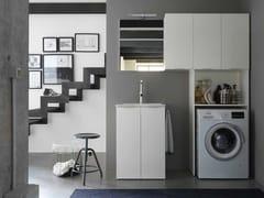 Mobile lavanderia in nobilitato con lavatoio per lavatriceKANDY 11 - IDEAGROUP