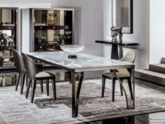 - Rectangular marble dining table KARL | Marble table - Fratelli Longhi