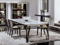 - Rectangular marble dining table KARL | Marble table - Longhi