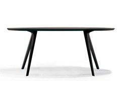 - Oval dining table KATANA | Oval table - Potocco