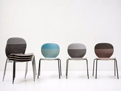 - Stackable lacquered wooden chair KELLY V - Tacchini Italia Forniture