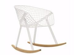 - Rocking steel easy chair KOBI ROCKING - 048 - Alias