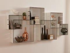 - Wall-mounted sectional bookcase KONNEX - Müller Möbelwerkstätten