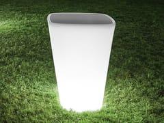 - Tavolino alto luminoso quadrato in polietilene KONO | Tavolino luminoso - Derlot Editions