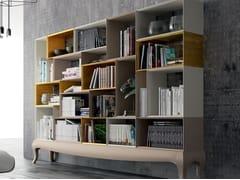 Libreria a giorno laccata in faggioKUBUS - BEKREATIVE