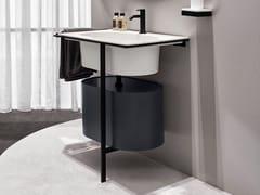 Mobile lavabo singolo con anteKYROS - CERAMICA CIELO