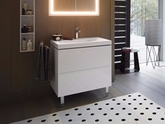 - Wooden vanity unit with drawers L-CUBE C-BONDED | Vanity unit - DURAVIT