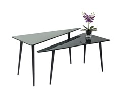 - Triangular aluminium coffee table LA COSTA TRIANGLE - KARE-DESIGN