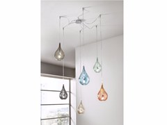 Lampada a sospensione a luce diretta in vetro soffiatoLACRIMA MINI | Lampada a sospensione - CANGINI & TUCCI