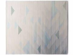- Handmade rug with optical pattern LAKE GREY - Golran