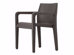 - Leather chair with armrests LALEGGERA ARMREST LEATHER - 304_L - Alias
