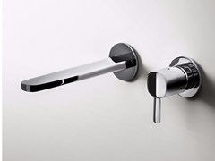 - 2 hole wall-mounted washbasin mixer LAMÈ | Wall-mounted washbasin mixer - Fantini Rubinetti