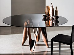 - Round glass table LAMBDA ROUND - SOVET ITALIA