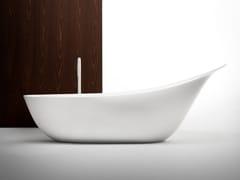 Vasca da bagno centro stanza ovale in Cristalplant®LANCETTA - FALPER