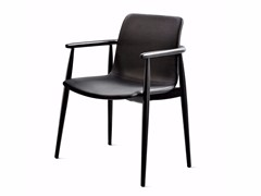 - Leather chair with armrests LAPIS | Chair with armrests - Varaschin