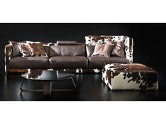 - Contemporary style sectional upholstered modular leather sofa LAYER | Leather sofa - ITALY DREAM DESIGN - Kallisté